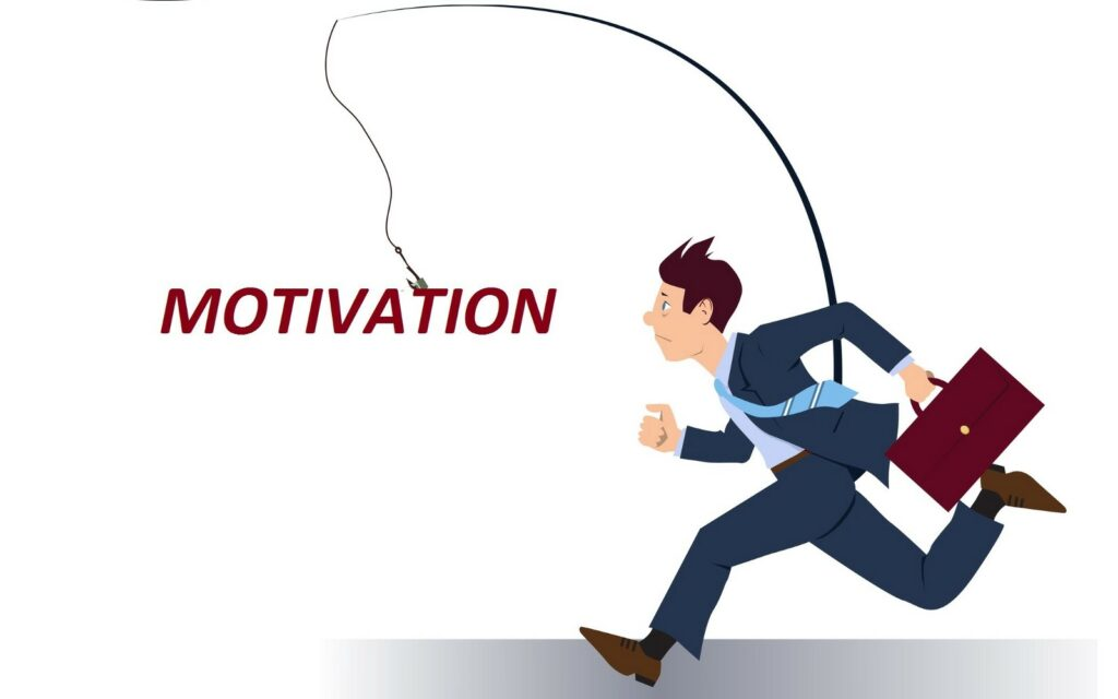 A man in a suit, running for/after motivation