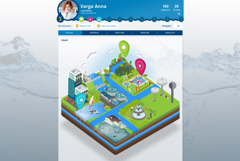 Building a water city on the Motivive interface in the Waterworks and Centaer project.